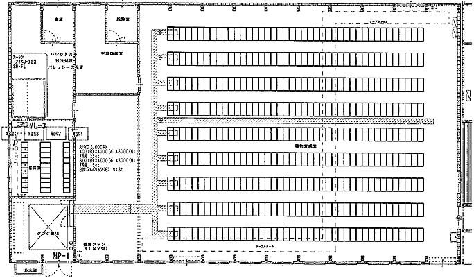 植物工場 見取り図