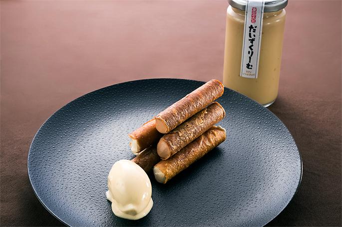 大豆クリームのムースとグラス ムースショコラとガボット