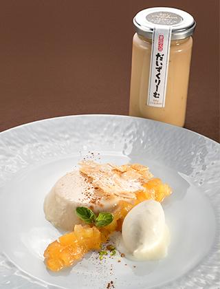 白河産だいずくりーむのブランマンジェ・リンゴのコンフィチュール